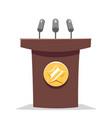hustings tribune rostrum politician performance vector image