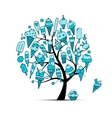 Icecream tree sketch for your design vector image vector image