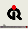 IQ Logo Monogram or Intelligence Symbol vector image
