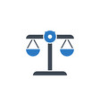 libra related glyph icon vector image