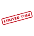 Limited time text rubber stamp