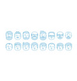 line set people icons male characters vector image vector image