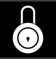 lock white color icon vector image vector image