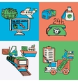 Logistic design concept flat icons vector image vector image