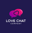 love chat icon logo design vector image vector image
