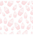 lovely cupcake seamless background pattern vector image vector image