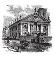 lutheran church philadelphia vintage vector image vector image