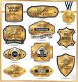 Luxury golden labels vector image vector image