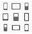 mobile devices silhouettes set vector image