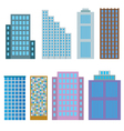 Modern buildings vector image vector image