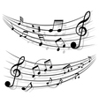 Motion of musical notes vector image vector image