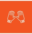 Motorcycle gloves line icon vector image vector image