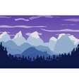 mountains landscape forest and sky vector image