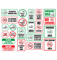 no smoking and smoking area vector image vector image