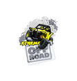 off-road atv buggy logo extreme races vector image vector image
