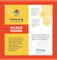 online shopping company brochure title page vector image vector image