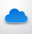 Paper blue cloud on white vector image vector image