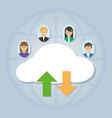 people using cloud vector image