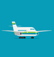 plane or airplane in flat style vector image vector image