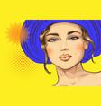 pop art pin up a sexy girl vector image vector image