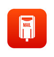 post box icon digital red vector image