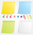 Post Paper and Pin Collection vector image vector image