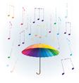 rainbow umbrella vector image vector image
