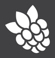raspberry solid icon fruit and diet vector image vector image