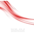 Red background curve vector image vector image
