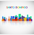 santo domingo skyline silhouette in colorful vector image vector image