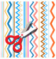 scissors on textile background abstract oriental vector image