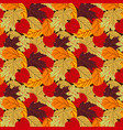 seamless autumn pattern background vector image vector image