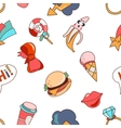 Seamless pattern cartoon patch badges vector image vector image
