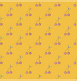 seamless pattern cute cherry background vector image