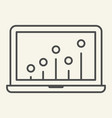 seo graph thin line icon chart on laptop vector image vector image