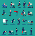 set of businessman character poses vector image vector image