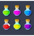 Set of elixirs icon vector image vector image