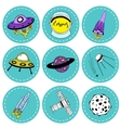 Set of stickers on the space theme vector image