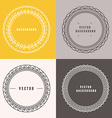 set outline design elements vector image vector image