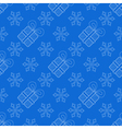 Snowflakes with Christmas gift box seamless vector image vector image