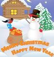 snowman 1 vector image