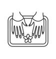 spa salon nails bath linear icon vector image vector image