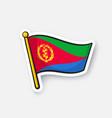 sticker flag eritrea vector image vector image