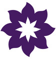 thick contour purple with flower icon vector image