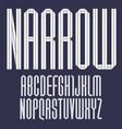 trendy alphabet folded paper tape italic font vector image