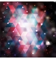 Triangle background with galaxy texture vector image vector image