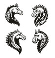 tribal horse heads mascot or tattoo vector image vector image
