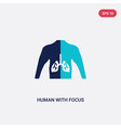 two color human with focus on lungs icon from vector image vector image