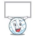 up board volley ball character cartoon vector image vector image