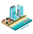urbanization isometric composition vector image